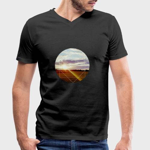 Sonnenuntergang am Platz - Männer Bio-T-Shirt mit V-Ausschnitt von Stanley & Stella