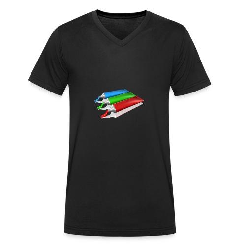 paint - Männer Bio-T-Shirt mit V-Ausschnitt von Stanley & Stella