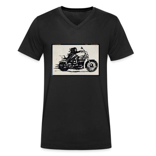 Biker Life - Økologisk T-skjorte med V-hals for menn fra Stanley & Stella