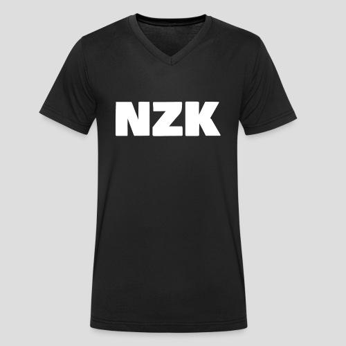 NZK logo - Mannen bio T-shirt met V-hals van Stanley & Stella