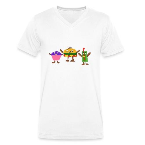 Fast food figures - Men's Organic V-Neck T-Shirt by Stanley & Stella