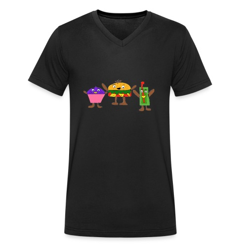 Fast food figures - Men's Organic V-Neck T-Shirt by Stanley & Stella