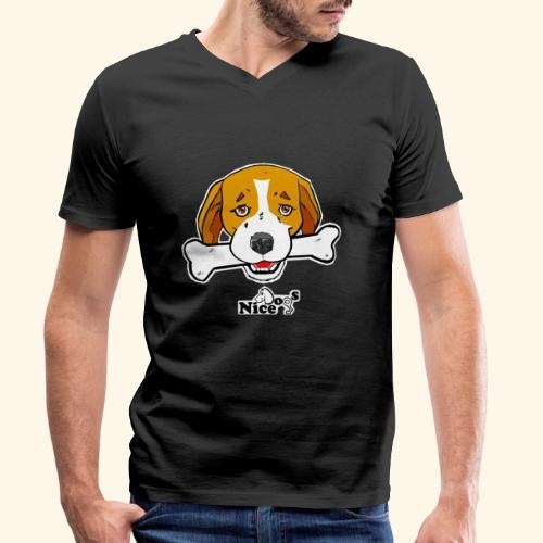 Nice Dogs Semolino - T-shirt ecologica da uomo con scollo a V di Stanley & Stella