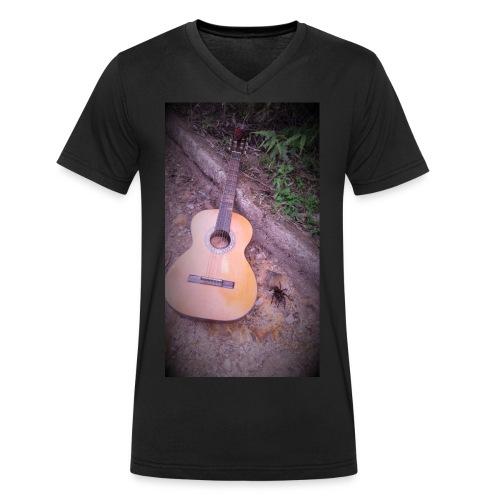 EsenciaTarantula - Camiseta ecológica hombre con cuello de pico de Stanley & Stella
