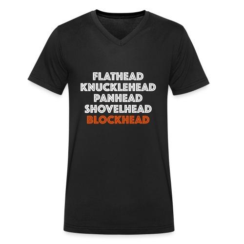 Blockhead 2C - Mannen bio T-shirt met V-hals van Stanley & Stella