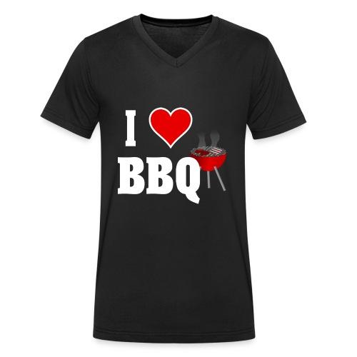 BBQ Barbecue - Männer Bio-T-Shirt mit V-Ausschnitt von Stanley & Stella