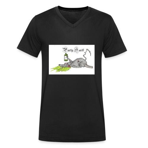 PartyHard - Männer Bio-T-Shirt mit V-Ausschnitt von Stanley & Stella