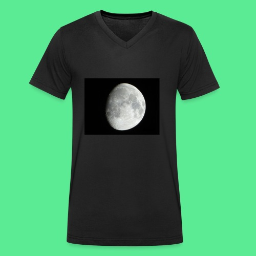 The moon - Men's Organic V-Neck T-Shirt by Stanley & Stella