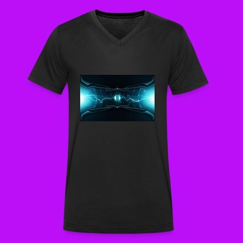 lightning cell - Men's Organic V-Neck T-Shirt by Stanley & Stella