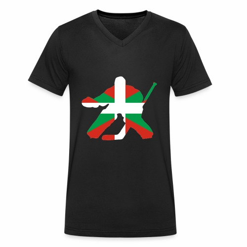 goalie et basque - T-shirt bio col V Stanley & Stella Homme