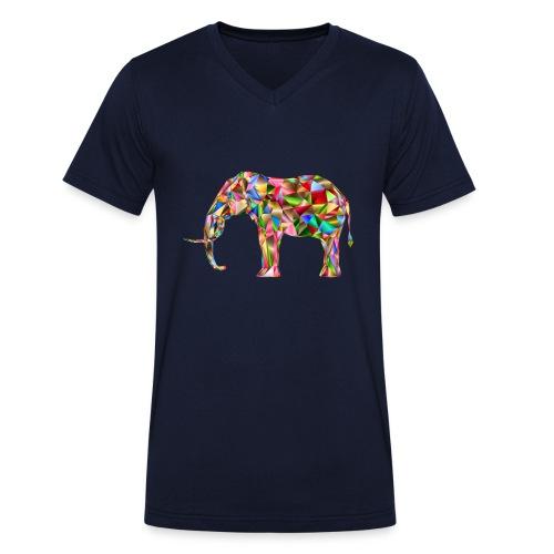 Gestandener Elefant - Männer Bio-T-Shirt mit V-Ausschnitt von Stanley & Stella