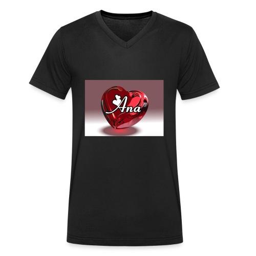 20180611 225217 - Mannen bio T-shirt met V-hals van Stanley & Stella