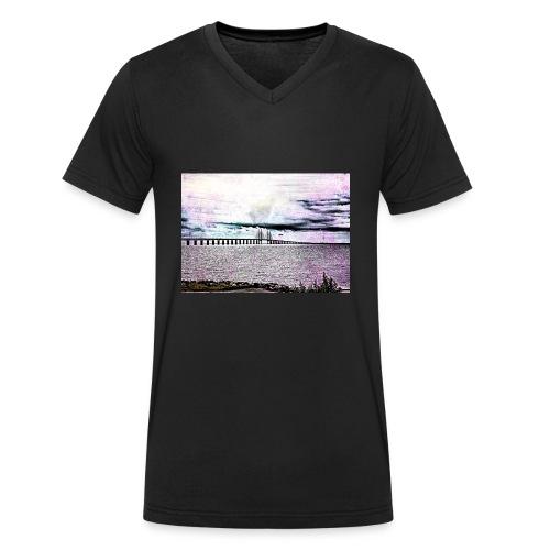 Öresundsbron - Ekologisk T-shirt med V-ringning herr från Stanley & Stella