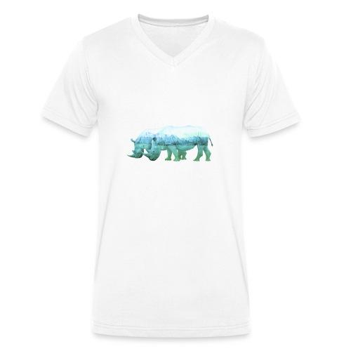 RHINOS, DIE NASHÖRNER IN DEN ALPEN - Männer Bio-T-Shirt mit V-Ausschnitt von Stanley & Stella
