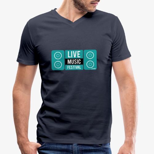 Amo la música - Camiseta ecológica hombre con cuello de pico de Stanley & Stella