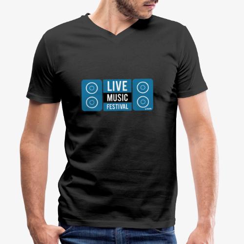 Sound 005 - Camiseta ecológica hombre con cuello de pico de Stanley & Stella