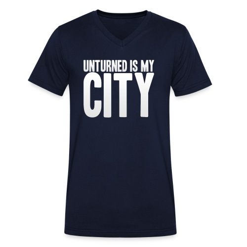 Unturned is my city - Men's Organic V-Neck T-Shirt by Stanley & Stella
