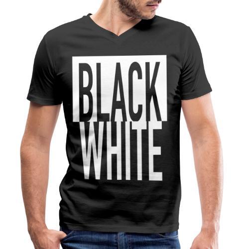 White Black - Männer Bio-T-Shirt mit V-Ausschnitt von Stanley & Stella
