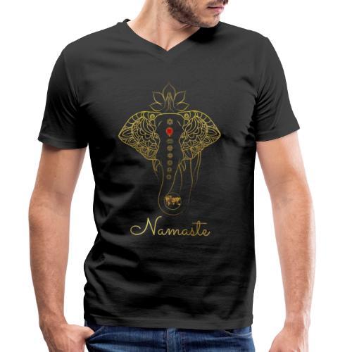 Namaste Meditation Yoga Sport Fashion - Männer Bio-T-Shirt mit V-Ausschnitt von Stanley & Stella