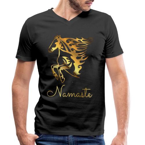 Namaste Horse On Fire - Männer Bio-T-Shirt mit V-Ausschnitt von Stanley & Stella