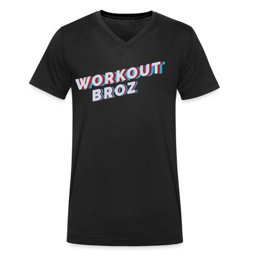 Official WorkoutBroz Logo - Men's Organic V-Neck T-Shirt by Stanley & Stella
