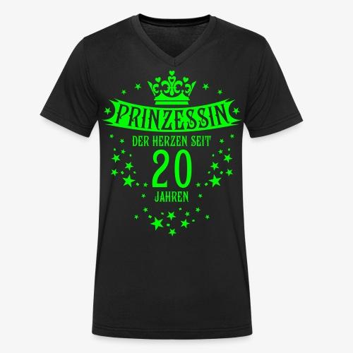 15 Prinzessin der Herzen seit 20 Jahren Geburtstag - Männer Bio-T-Shirt mit V-Ausschnitt von Stanley & Stella