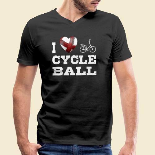 Radball | I Love Cycle Ball - Männer Bio-T-Shirt mit V-Ausschnitt von Stanley & Stella