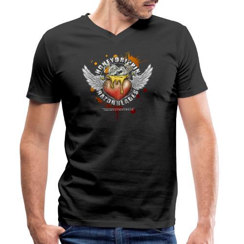 Honeydrippin' razorblades - Männer Bio-T-Shirt mit V-Ausschnitt von Stanley & Stella