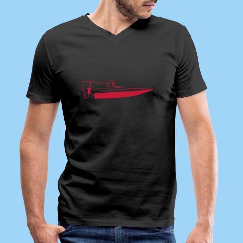 Powerboat GT30/GT15 Red - Ekologisk T-shirt med V-ringning herr från Stanley & Stella