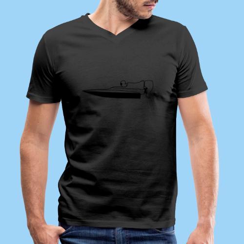 Powerboat GT30/GT15 Black flip - Ekologisk T-shirt med V-ringning herr från Stanley & Stella