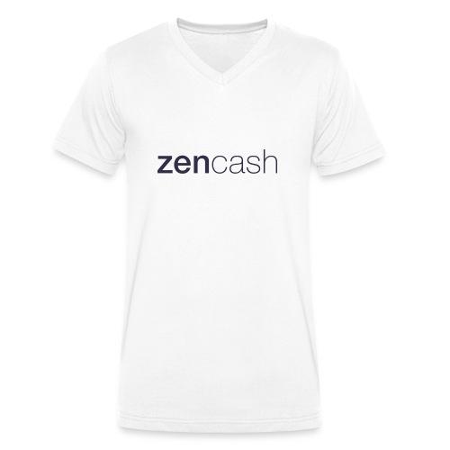 ZenCash CMYK_Horiz - Full - Men's Organic V-Neck T-Shirt by Stanley & Stella