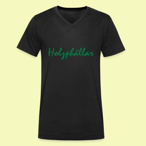 Schriftzug Grün - Männer Bio-T-Shirt mit V-Ausschnitt von Stanley & Stella