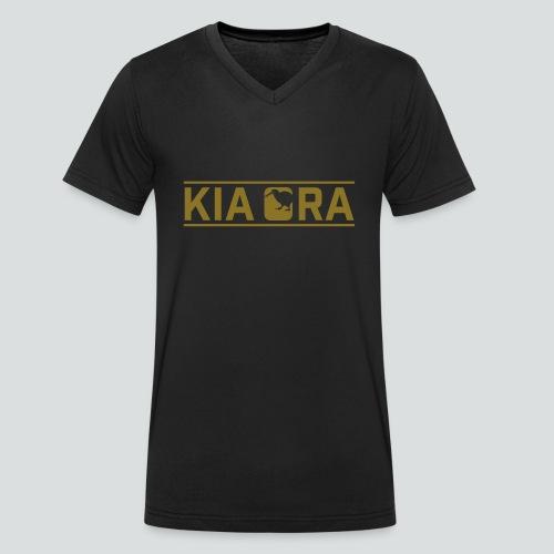 kia ora New Zealand - Männer Bio-T-Shirt mit V-Ausschnitt von Stanley & Stella