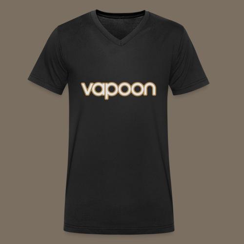 Vapoon Logo simpel 2 Farb - Männer Bio-T-Shirt mit V-Ausschnitt von Stanley & Stella