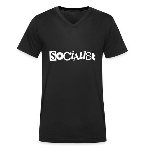 Socialist - Männer Bio-T-Shirt mit V-Ausschnitt von Stanley & Stella