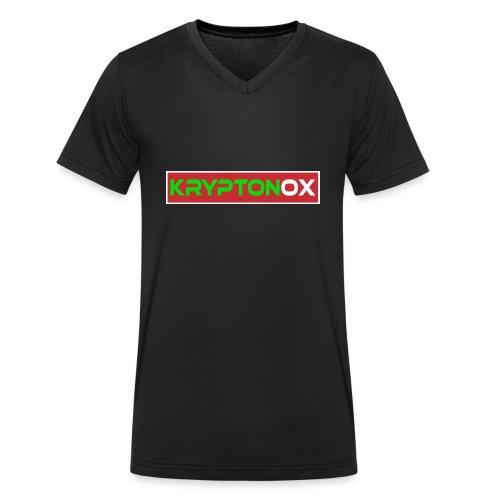 Kryptonox Logo - Men's Organic V-Neck T-Shirt by Stanley & Stella