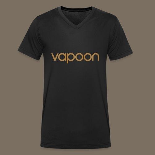 Vapoon Logo simpel 01 - Männer Bio-T-Shirt mit V-Ausschnitt von Stanley & Stella