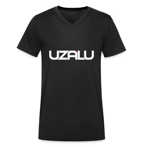 uzalu Text Logo - Men's Organic V-Neck T-Shirt by Stanley & Stella