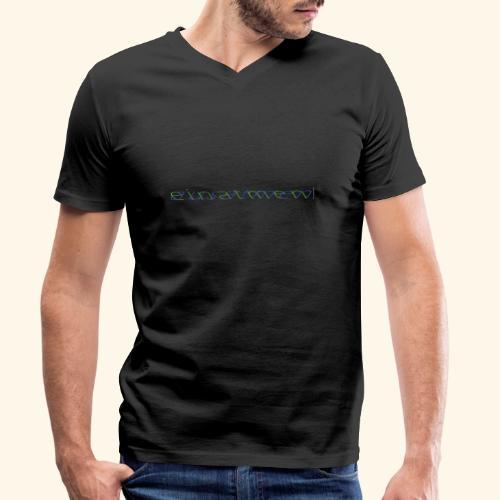atmen Grün-Blau (m) - Männer Bio-T-Shirt mit V-Ausschnitt von Stanley & Stella