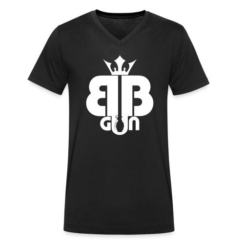 BB GUN White - T-shirt bio col V Stanley & Stella Homme