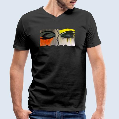 Closed Eyes Berlin PopArt ickeshop BachBilder - Männer Bio-T-Shirt mit V-Ausschnitt von Stanley & Stella