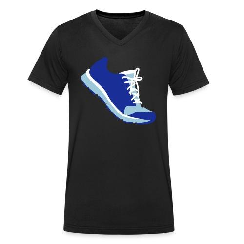 Laufschuh - Männer Bio-T-Shirt mit V-Ausschnitt von Stanley & Stella