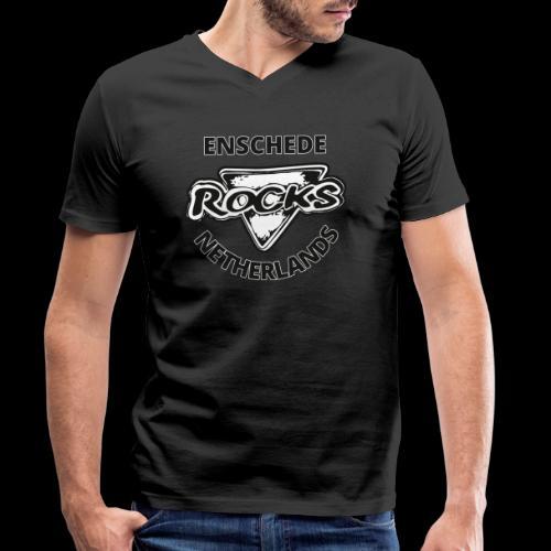 Rocks Enschede NL B-WB - Mannen bio T-shirt met V-hals van Stanley & Stella