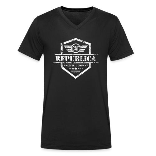 REPUBLICA CATALANA - Camiseta ecológica hombre con cuello de pico de Stanley & Stella