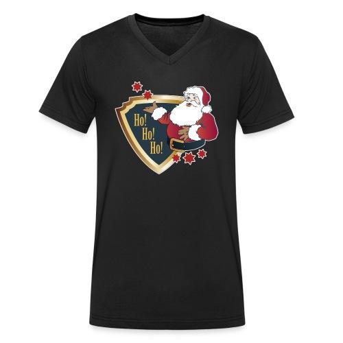Weihnachtsmann Santa Christmas Nikolaus xmas - Men's Organic V-Neck T-Shirt by Stanley & Stella