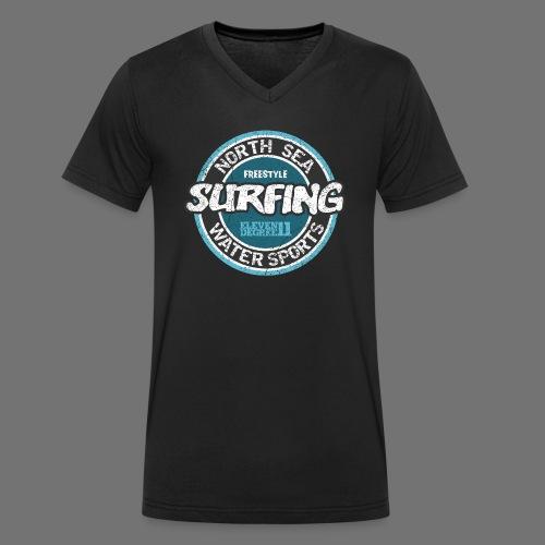 North Sea Surfing (oldstyle) - Økologisk Stanley & Stella T-shirt med V-udskæring til herrer