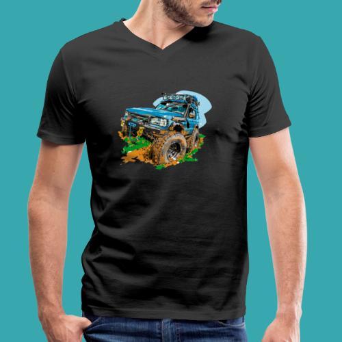 Big Blue - Men's Organic V-Neck T-Shirt by Stanley & Stella
