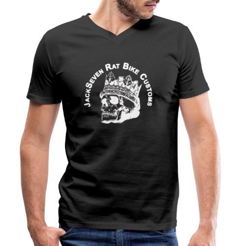 jackseven customs skull bobber chopper caferacer - Männer Bio-T-Shirt mit V-Ausschnitt von Stanley & Stella