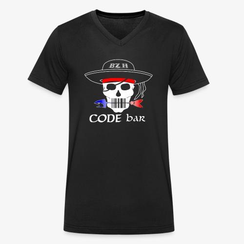 Code Bar white - T-shirt bio col V Stanley & Stella Homme