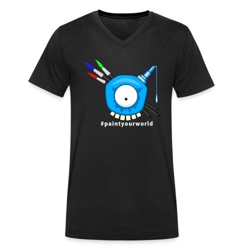 paintyourworld - Männer Bio-T-Shirt mit V-Ausschnitt von Stanley & Stella